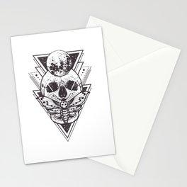 Sacred Geometry Skull Stationery Cards