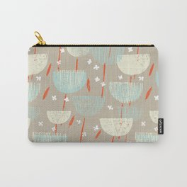 Botanical Block Print M+M Latte by Friztin Carry-All Pouch