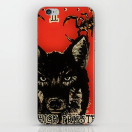 High Priestess Coyote and Scorpions Acrylic Painting iPhone Skin