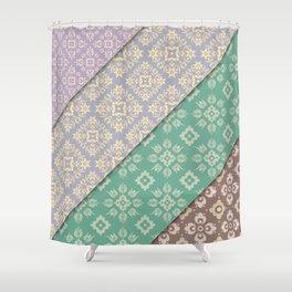 Layered patterns Shower Curtain