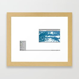'95 waves Framed Art Print