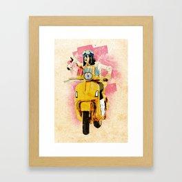 Vespa Girl Framed Art Print