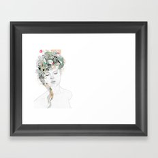Beauty waiting Framed Art Print