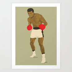 Cool image of a boxer Art Print