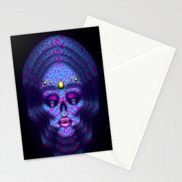 Pierced Skull 4 Stationery Cards