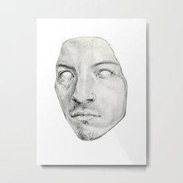 Face mask Metal Print