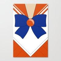 sailor venus Canvas Prints featuring Sailor Venus by kscullington   kristina anne