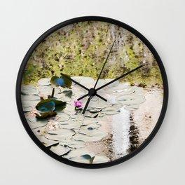 Lone Lotus Wall Clock