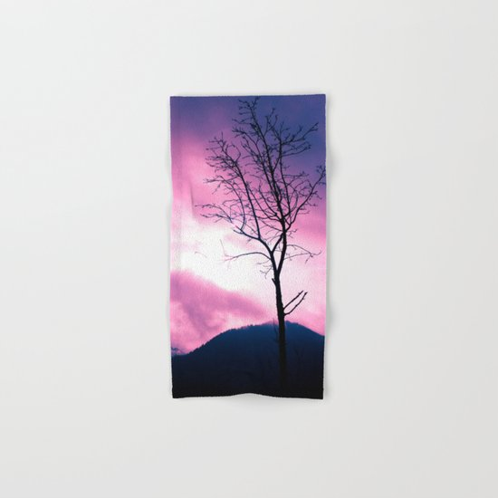 Into the Pink & Purple Sky  - JUSTART © Hand & Bath Towel