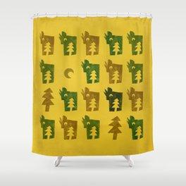 Woodragons Pattern Shower Curtain