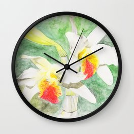 Dendrobium Heterocarpum Wall Clock