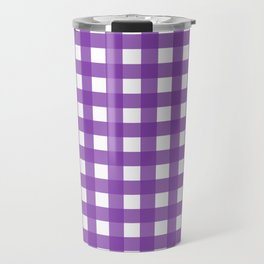 Farmhouse Gingham in Purple Travel Mug