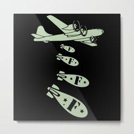 Bomber Dropping Bombs Metal Print