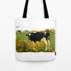 Cow Folk Tote Bag