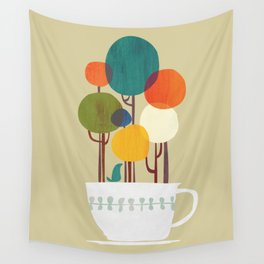 Life in a cup Wall Tapestry