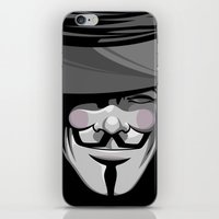 vendetta iPhone & iPod Skins featuring Vendetta by BiggStankDogg