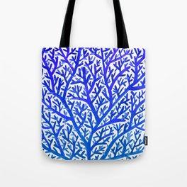 Fan Coral – Blue Ombré Tote Bag
