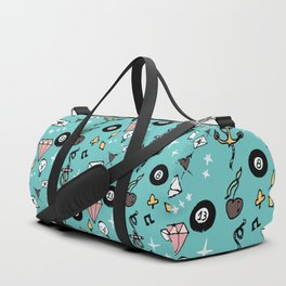 Rockabilly Lucky 13 Teal Duffle Bag