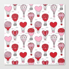 hot air balloon love valentines day gifts heart shape girls nursery Canvas Print