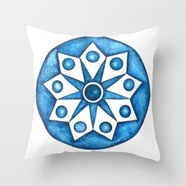Radial Design Blue No. 2 Throw Pillow