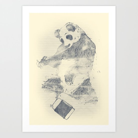 we are endangered Art Print