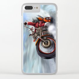 Santa's New Sleigh Clear iPhone Case