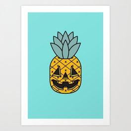 Pineapple Lantern Art Print
