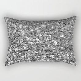 Chic faux silver abstract sequins glitter modern pattern Rectangular Pillow