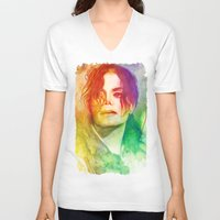 michael scott V-neck T-shirts featuring Michael by Aurora Wienhold