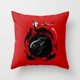 Dinos Circle Throw Pillow