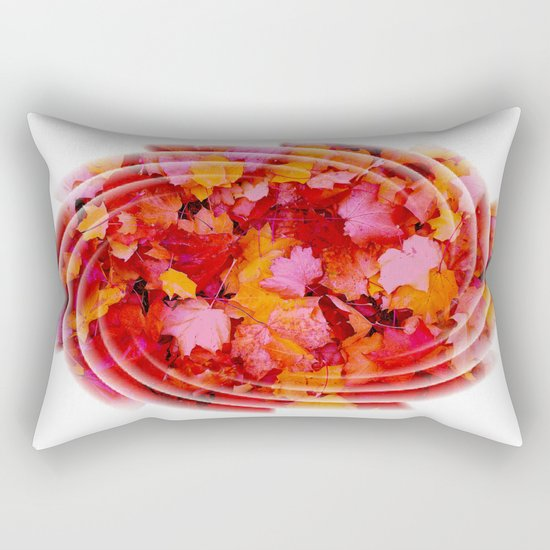 Swirling colored leaves Rectangular Pillow