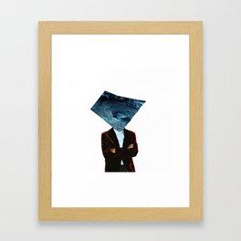 Mr. Charybdis (Handmade Collage) Framed Art Print