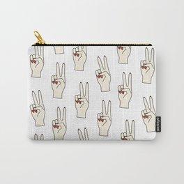 Hands, Pop art, Funny, Minimal, Scandinavian, Pattern, Modern art Carry-All Pouch