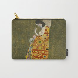 Hope II by Gustav Klimt Carry-All Pouch