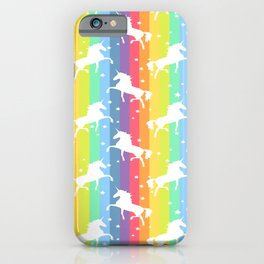 Rainbow Unicorn 2 iPhone Case