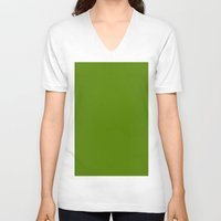 avocado V-neck T-shirts featuring Avocado by List of colors