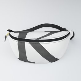 Letter K Initial Monogram Black and White Fanny Pack