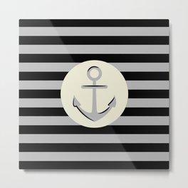 Anchor & Stripes Metal Print