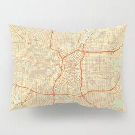San Antonio Map Retro Pillow Sham