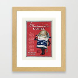 Vintage Coffee Poster, Washington Coffee, Advertisement, WWI Framed Art Print
