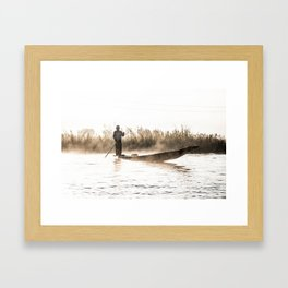 Morning Catch Framed Art Print