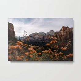 Zion Canyon through the Flora Metal Print