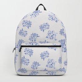 Watercolor blue agapanthus Backpack