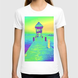 Colorful Dock In Mexico T-shirt