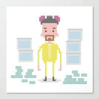 walter white Canvas Prints featuring Walter White by Andrew Fox