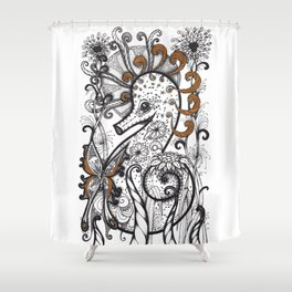 Empowered Seahorse Shower Curtain