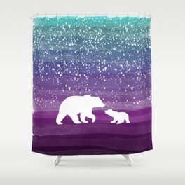 Bears from the Purple Dream Shower Curtain