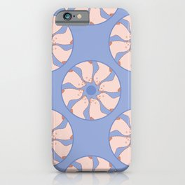 Round of Sea Lions Pattern iPhone Case