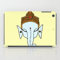 ganesha iPad Cases featuring Ganesha by RaJess