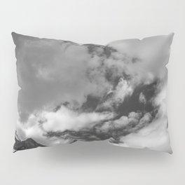 Lake Louise Black and White Minimalism Photography | Black and White | Photography Pillow Sham